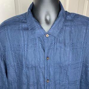 TOMMY BAHAMA NWOT Linen L/S Shirt Sz XXL/2XL
